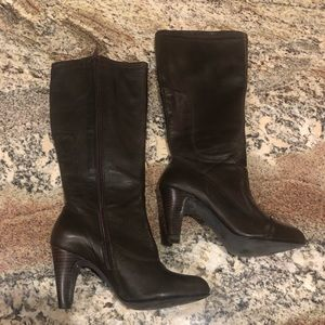 Chocolate brown tall heel boots.  Size 6.5